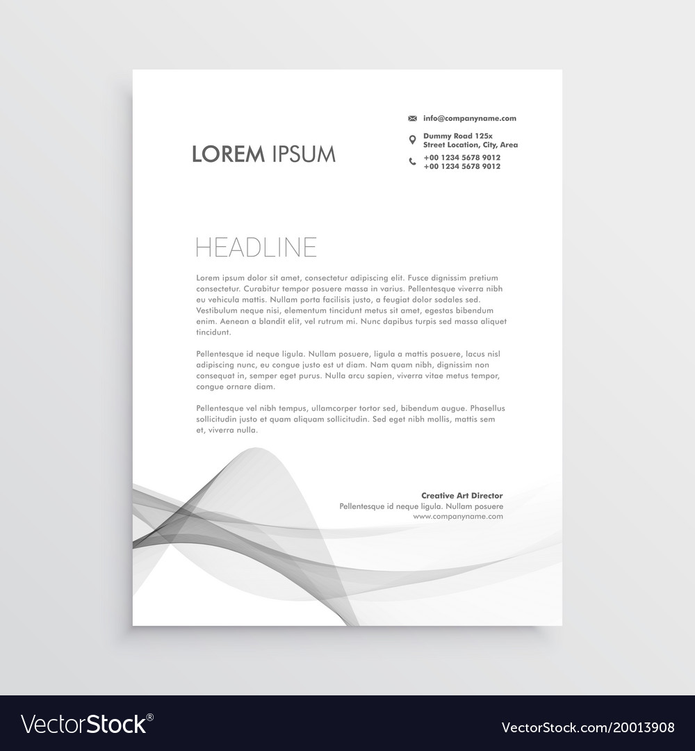 Abstract professional letterhead design template vector image altavistaventures Image collections