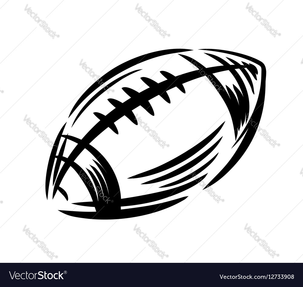 Black Football icon vector image