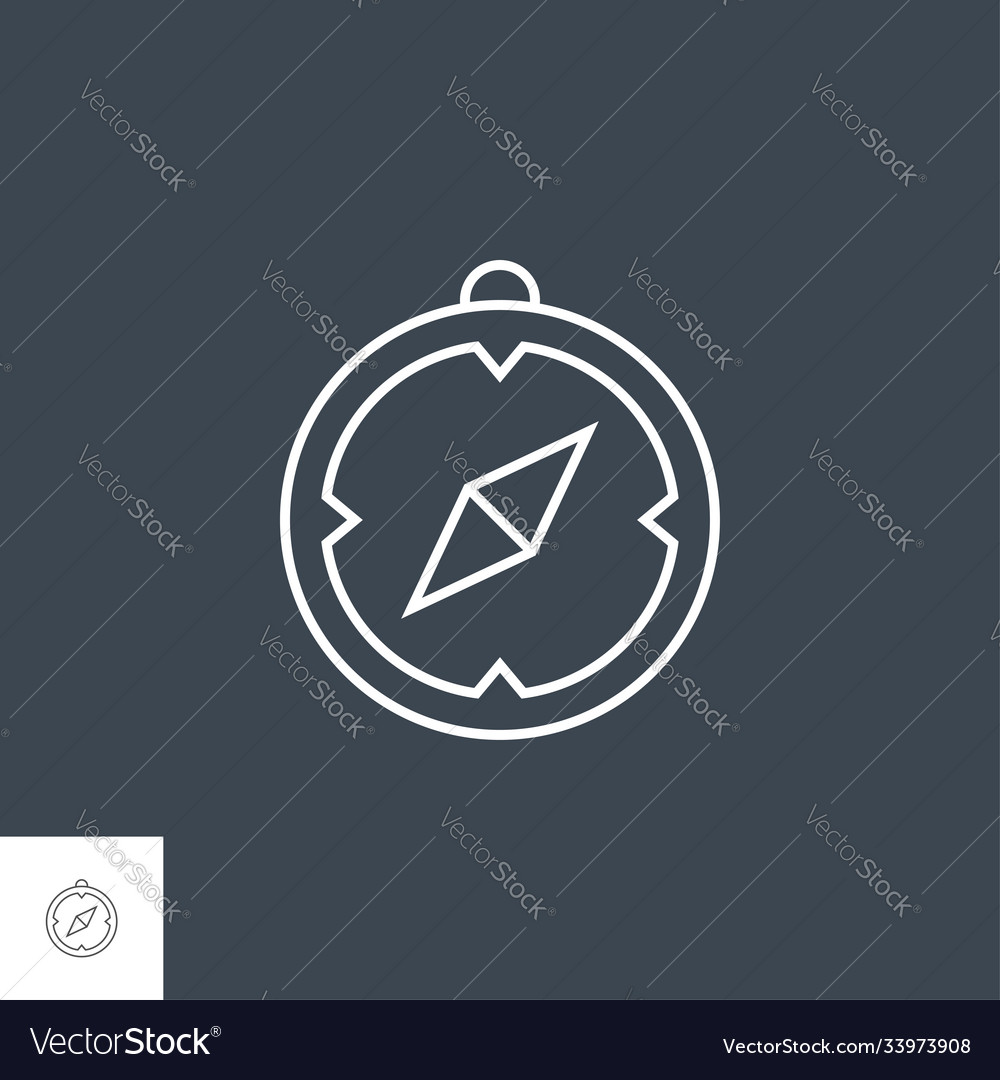 Compass related line icon
