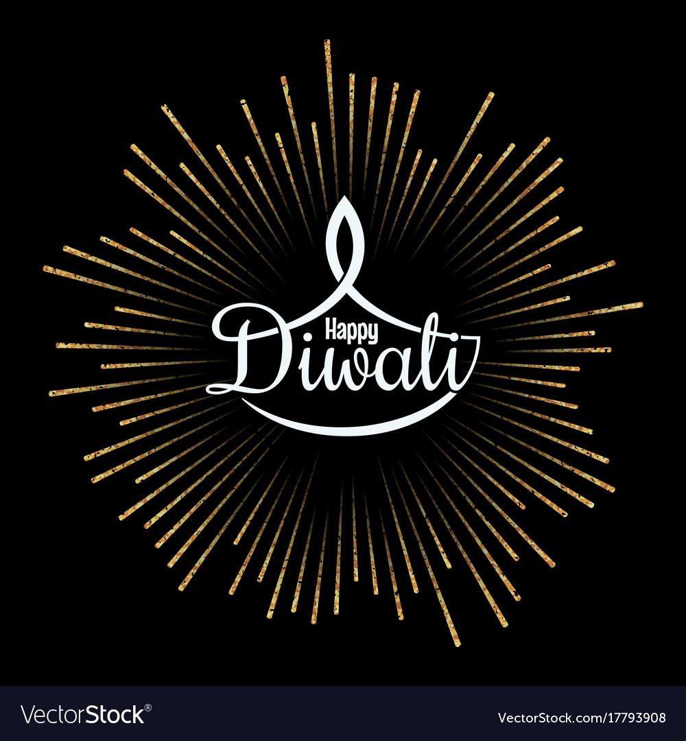 Diwali lamp golden light design background