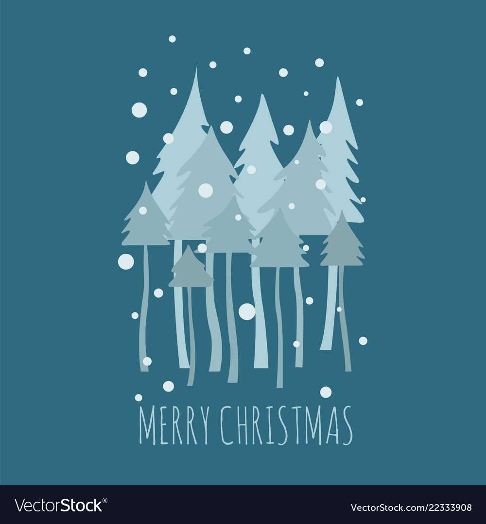 Flat style christmas holiday elements for