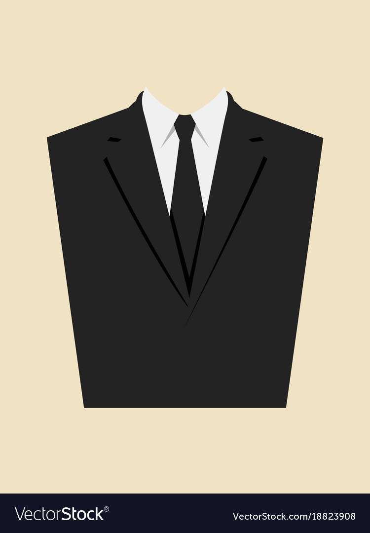Graphic of a man suit