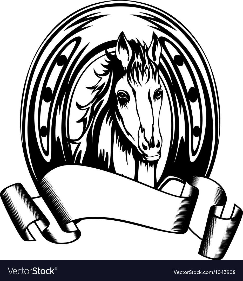 Head Horse In Shoe Vector Image