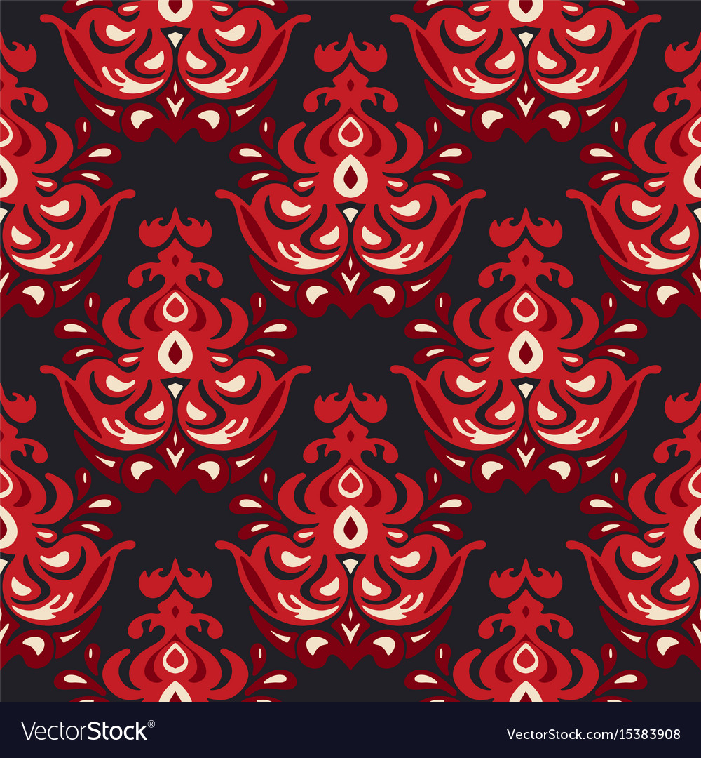 Luxury damask flower seamless pattern