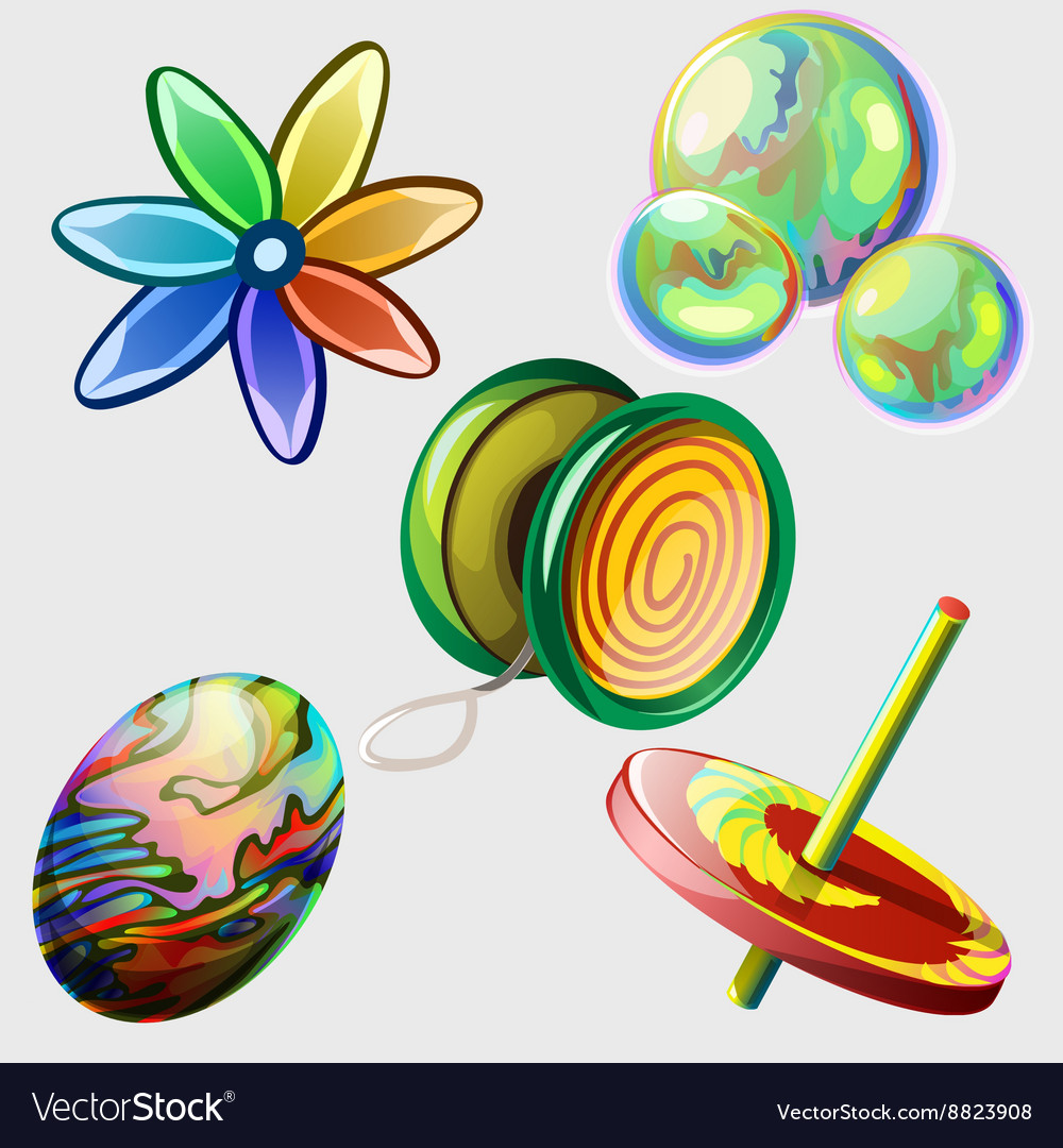 Pinwheel bubbles ball and other toys Five items