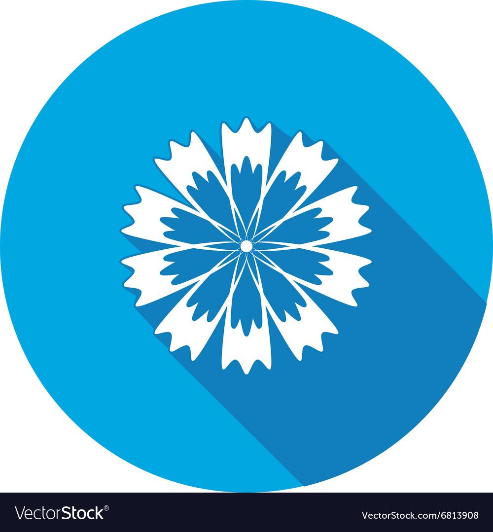 Spring floral icon cornflower blue poppy vector image izmirmasajfo