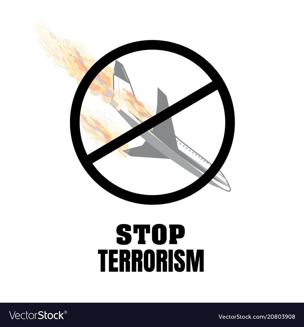 Stop terrorism terrorism on board