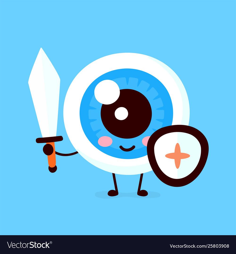 Strong cute healthy happy eye