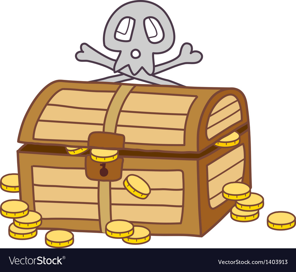 A treasure chest vector image