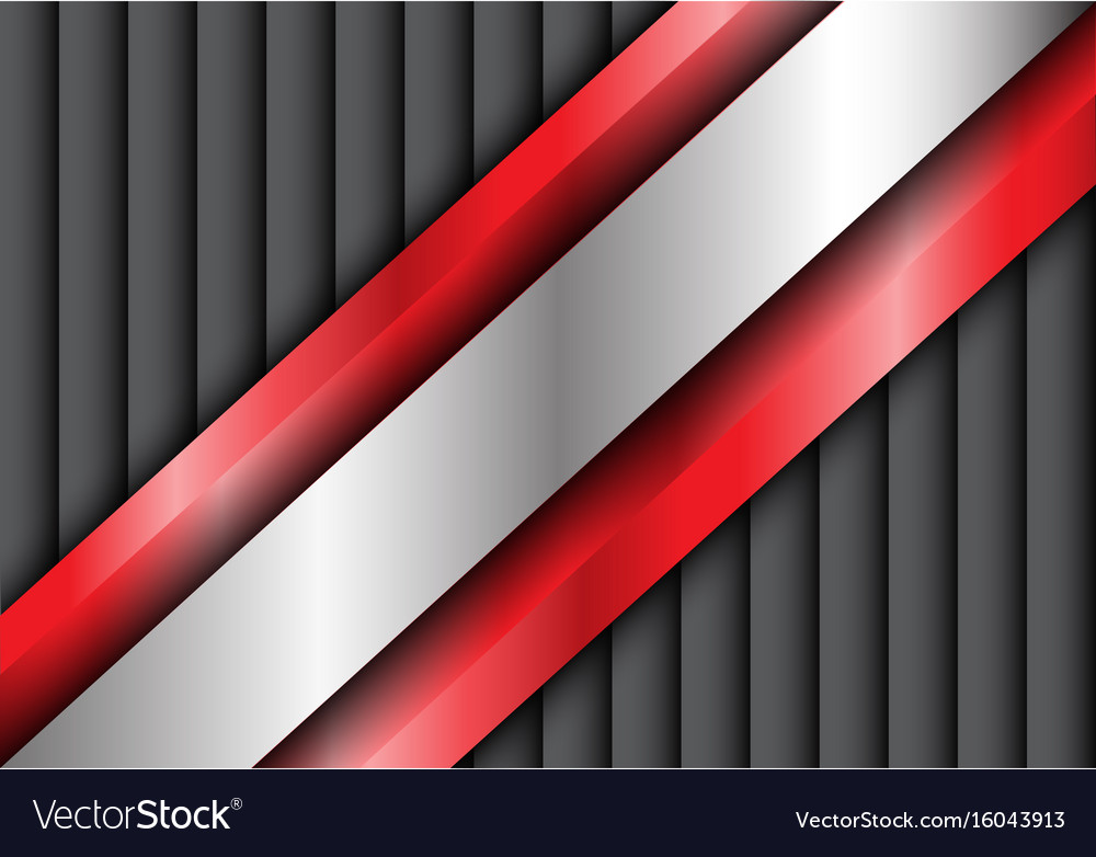 Abstract metal silver red gray shutter