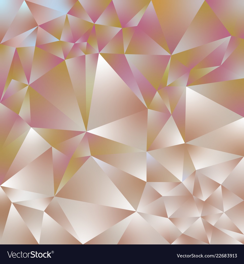 Abstract Polygonal Square Background Rose Gold Vector Image