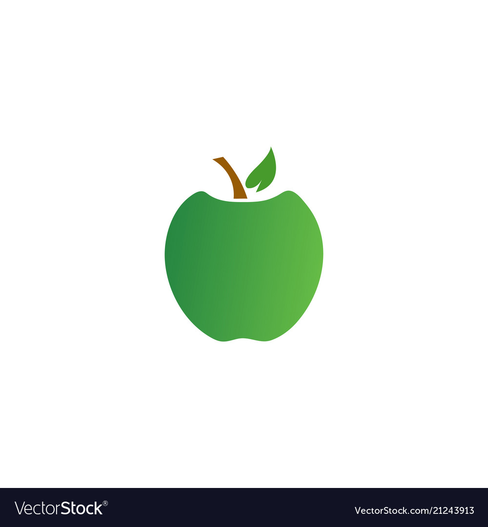 Colorful fruit logo icon template