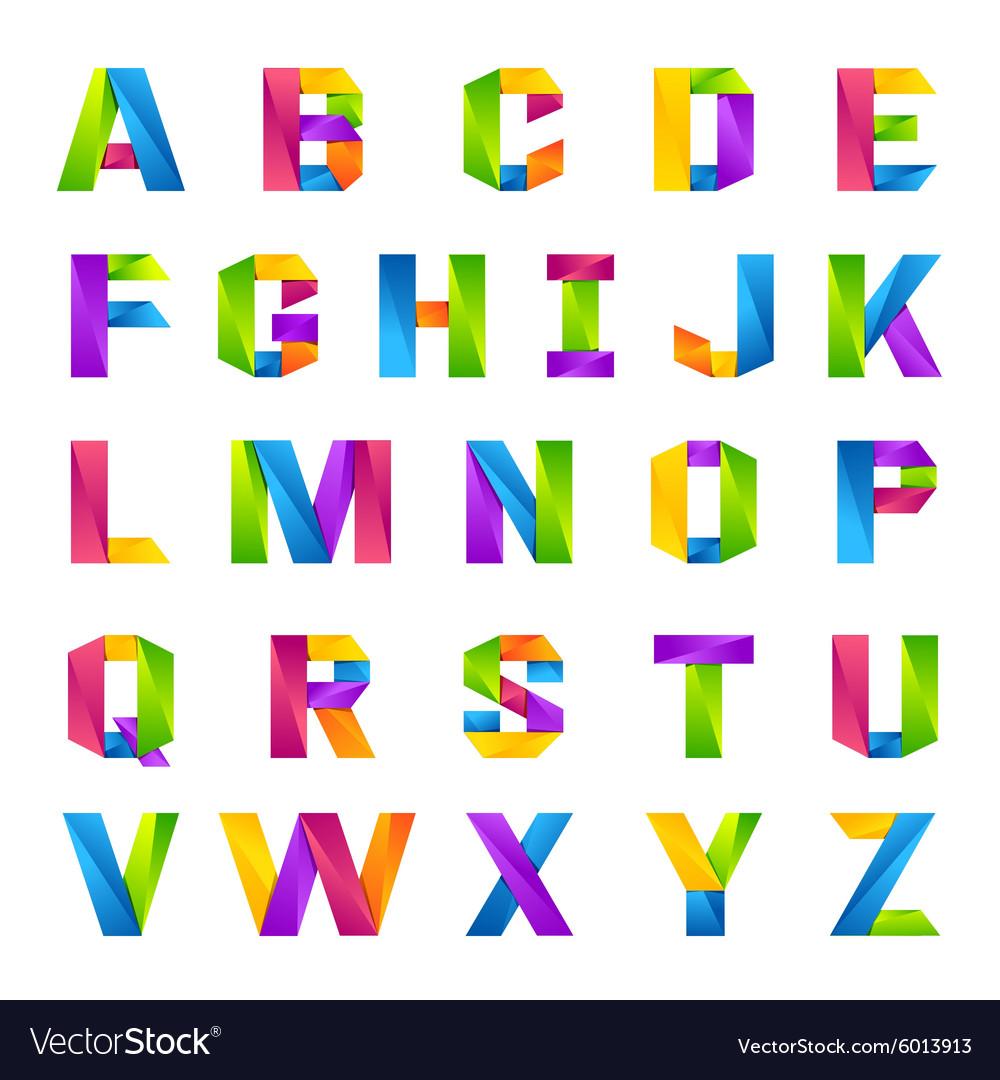 Alphabet Images fun english alphabet one line colorful letters set