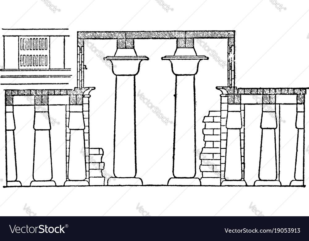 Hall of columns karnak clerestory window vintage