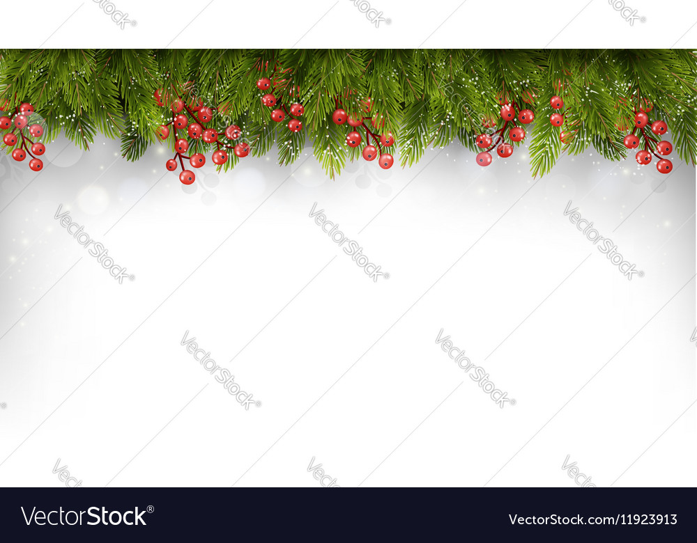 Holiday background with christmas tree branches