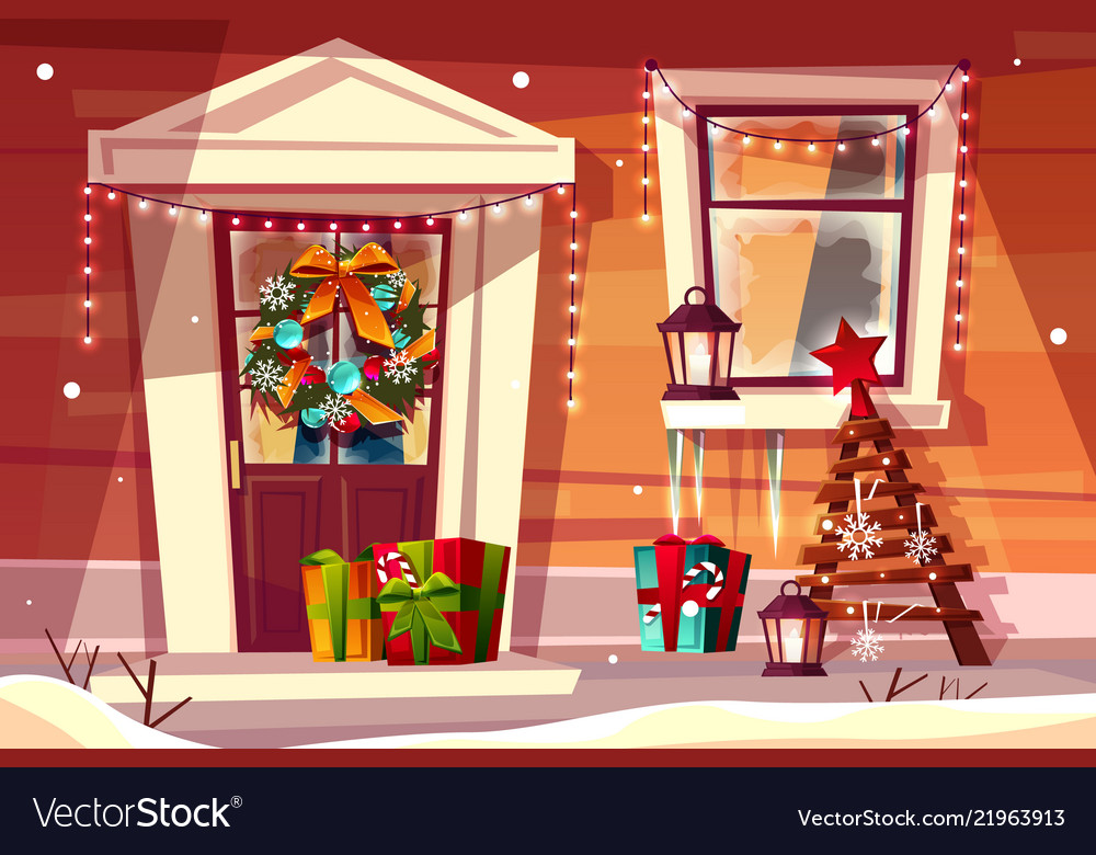 House in christmas or new year decorations