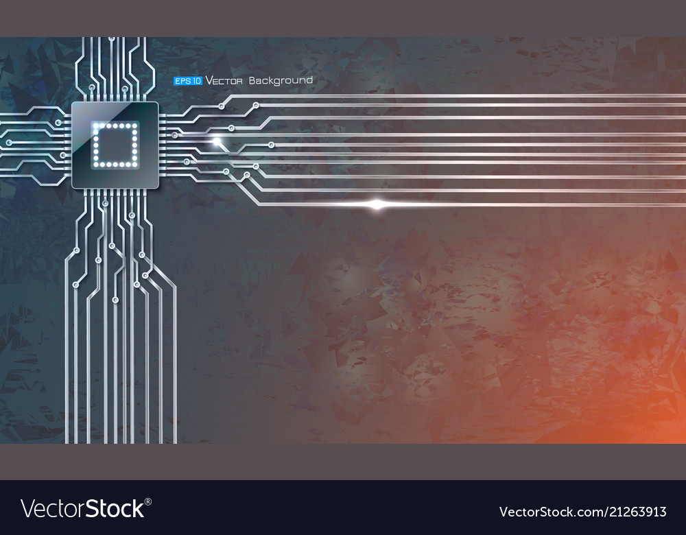 Microscheme chip on grunge background
