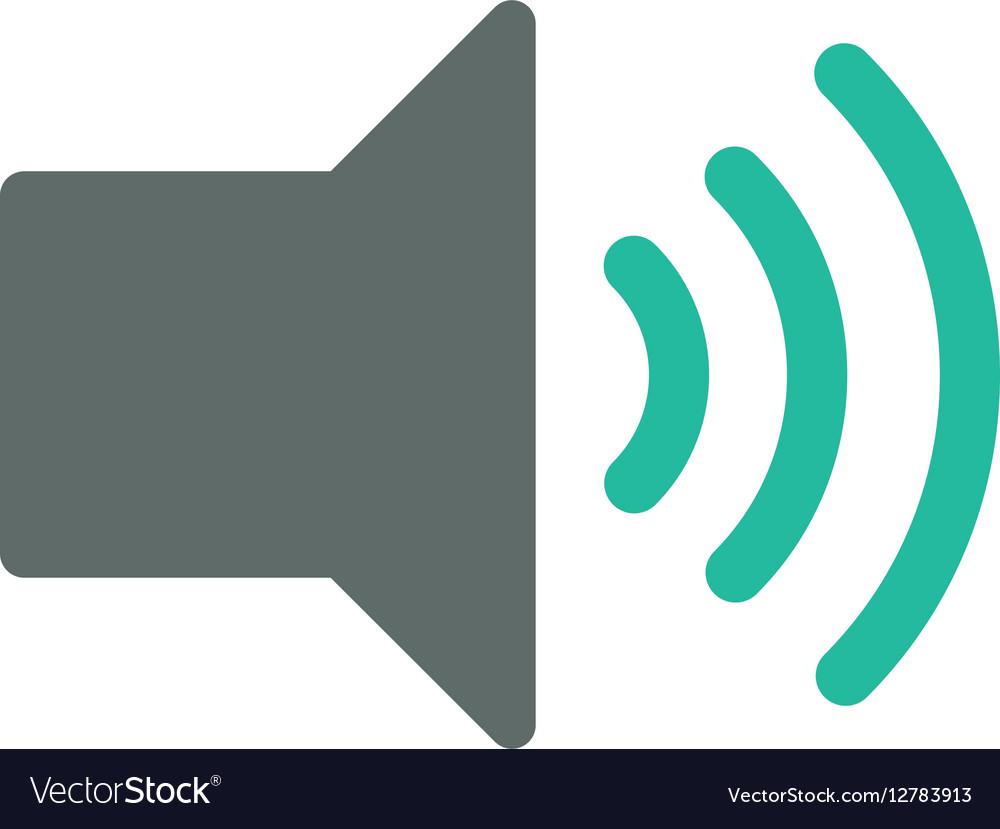 Music volume control vector image
