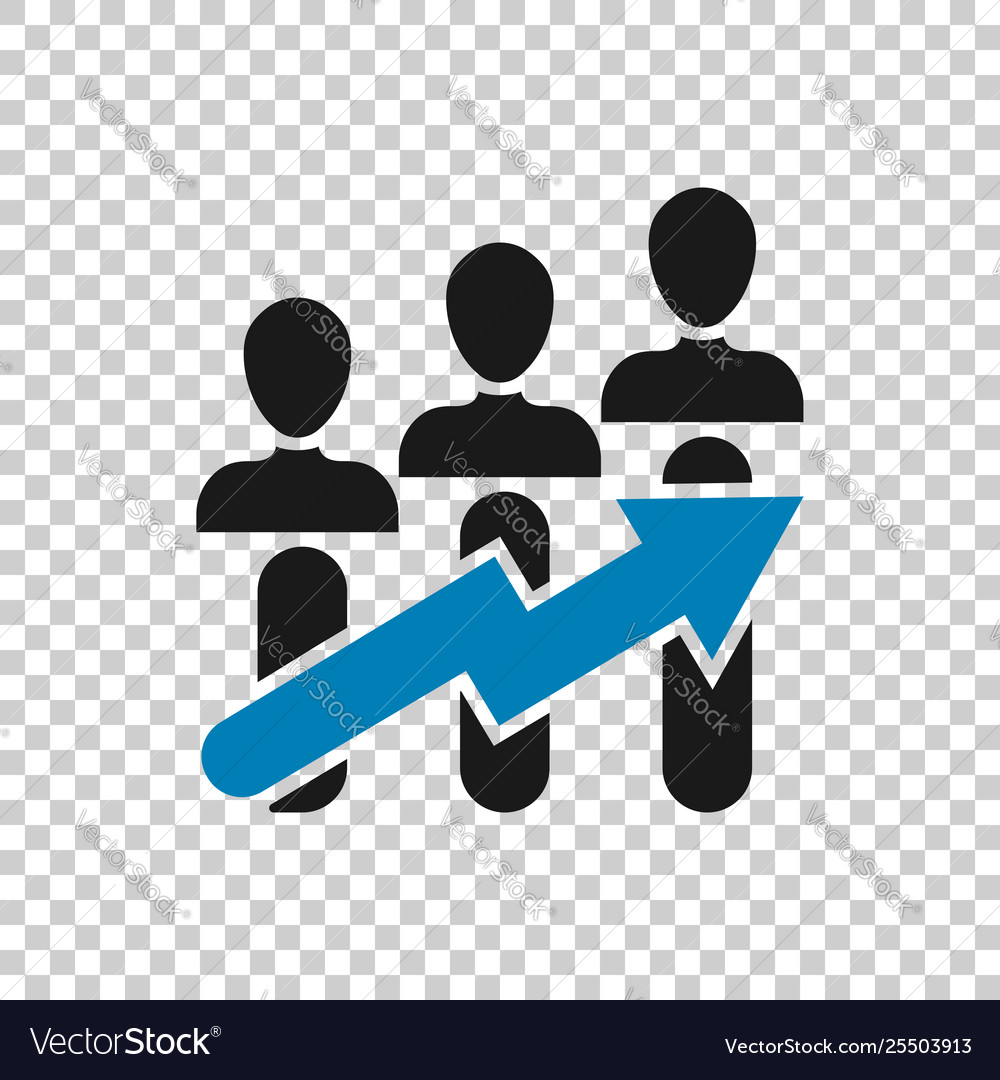 Performance Icon In Transparent Style Career On Vector Image