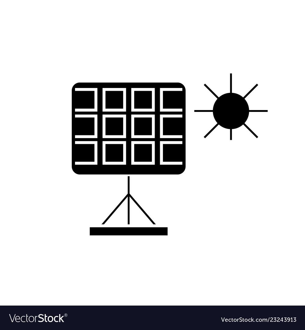 Solar panel black concept icon solar panel
