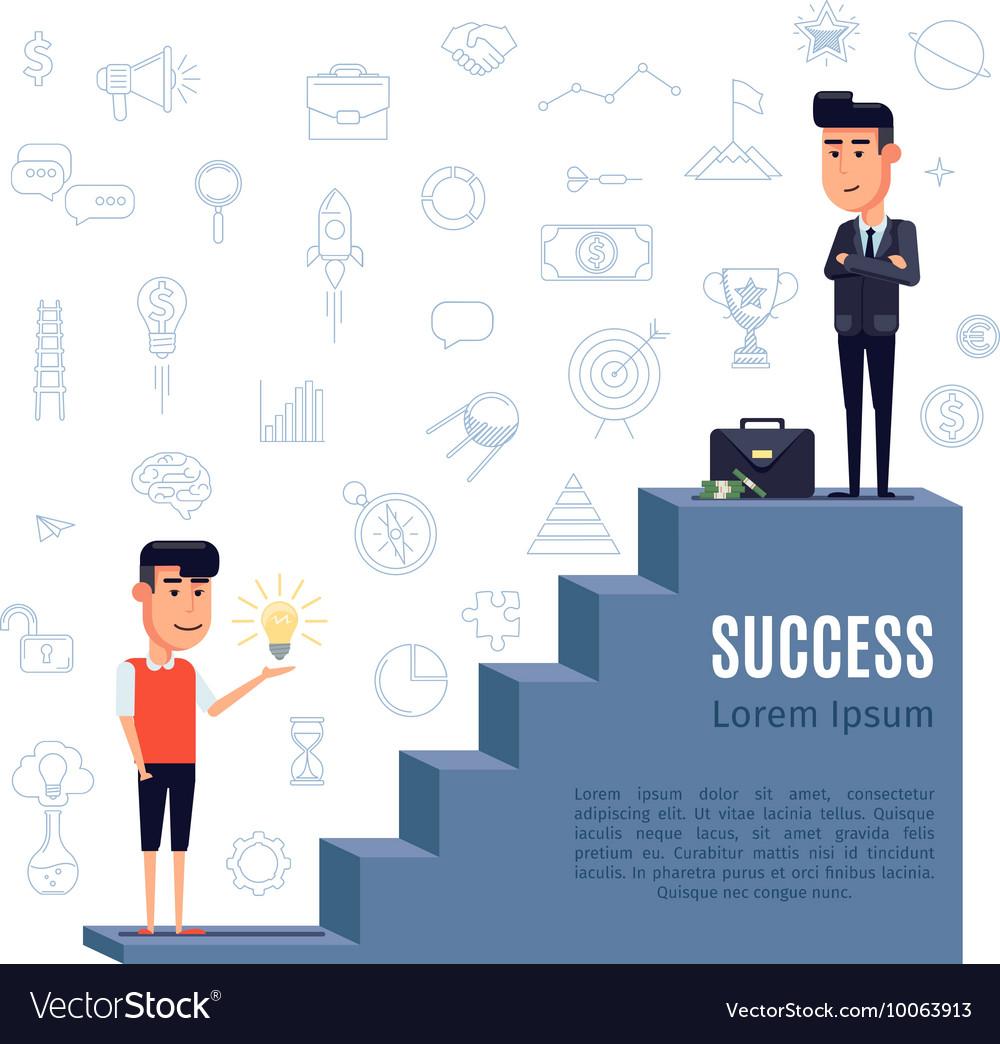 Success concept flat vector image