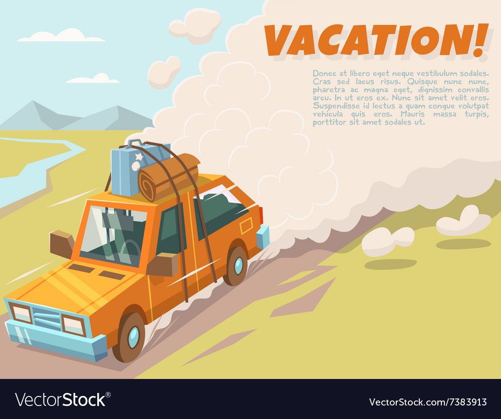 Vacation background with space for text