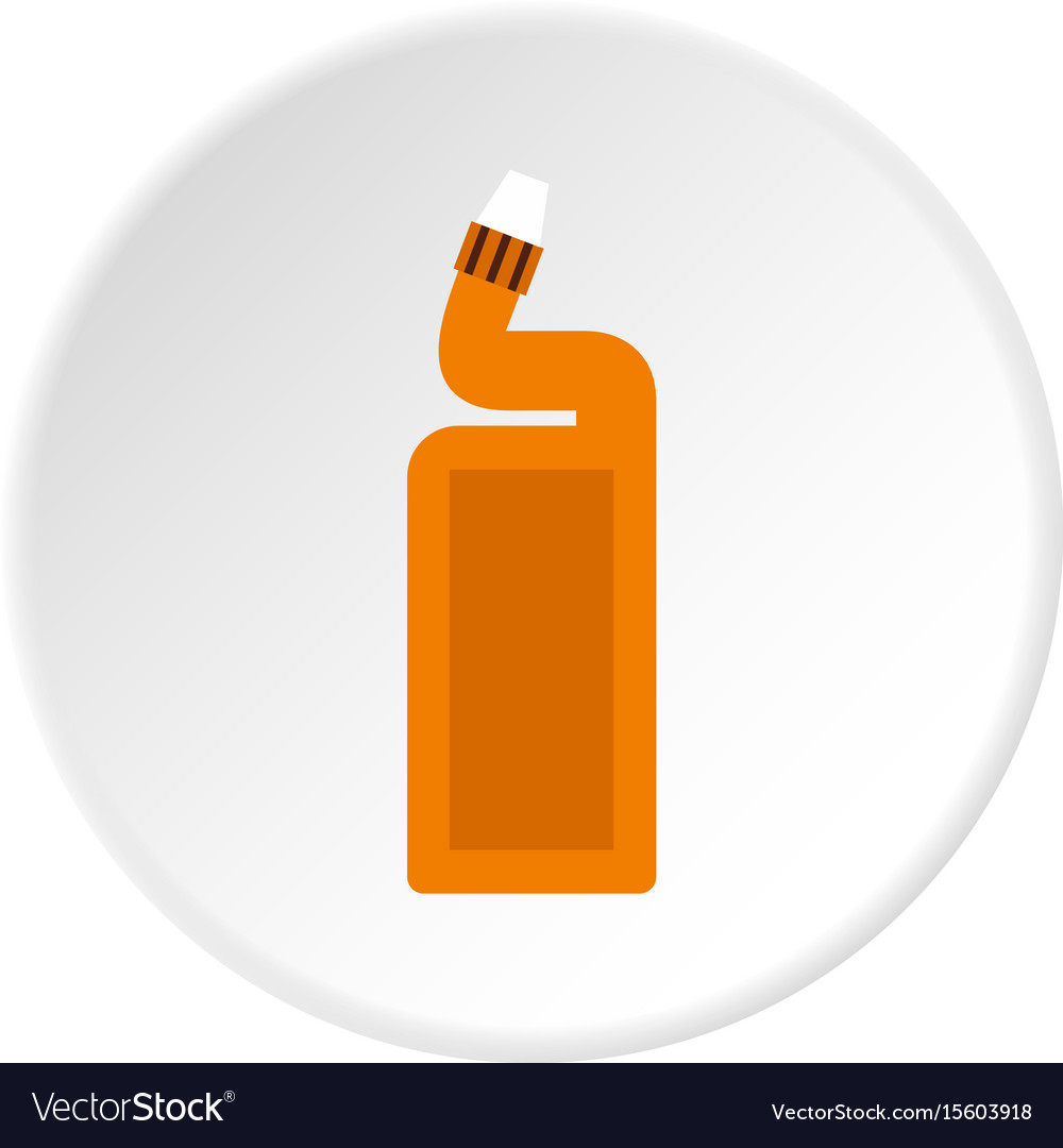 Disinfectant for the bathroom icon circle vector image