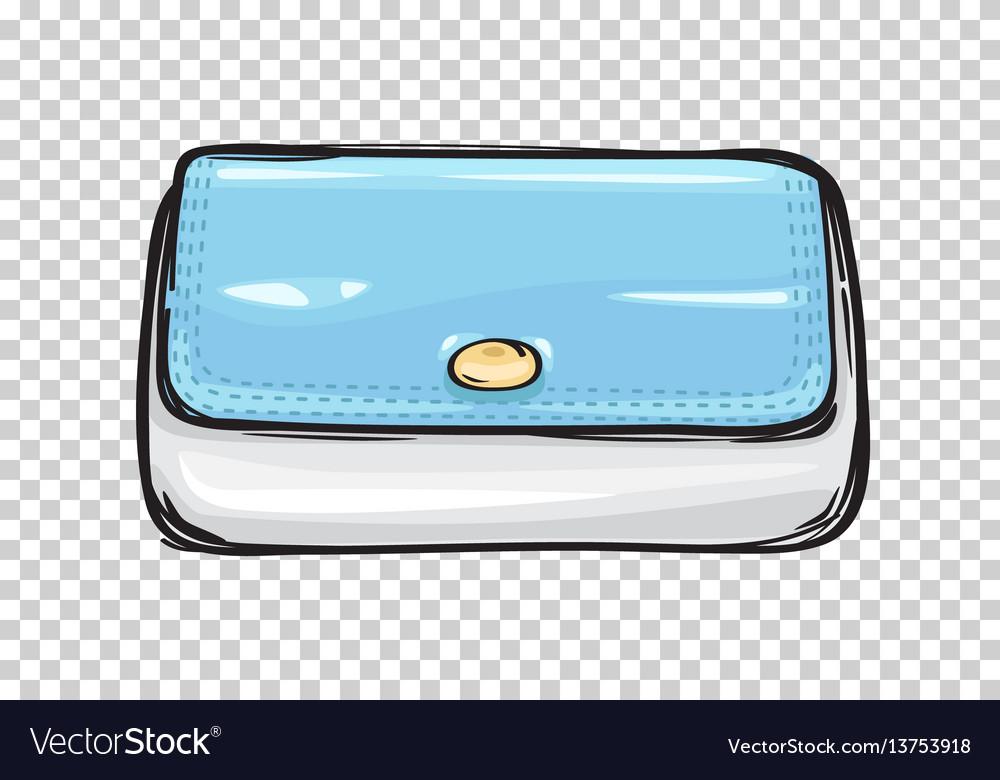 Fashion clutch bag or purse flat theme art style