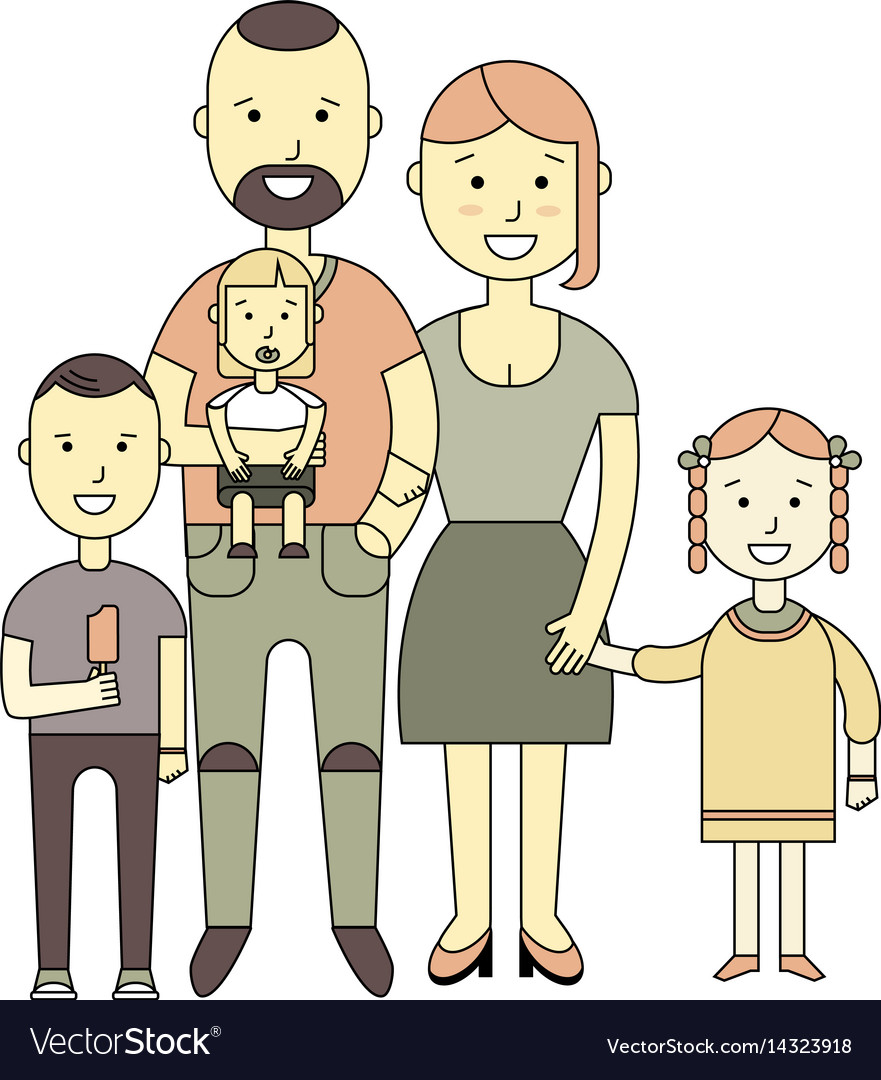 Happy family of a flat design vector image