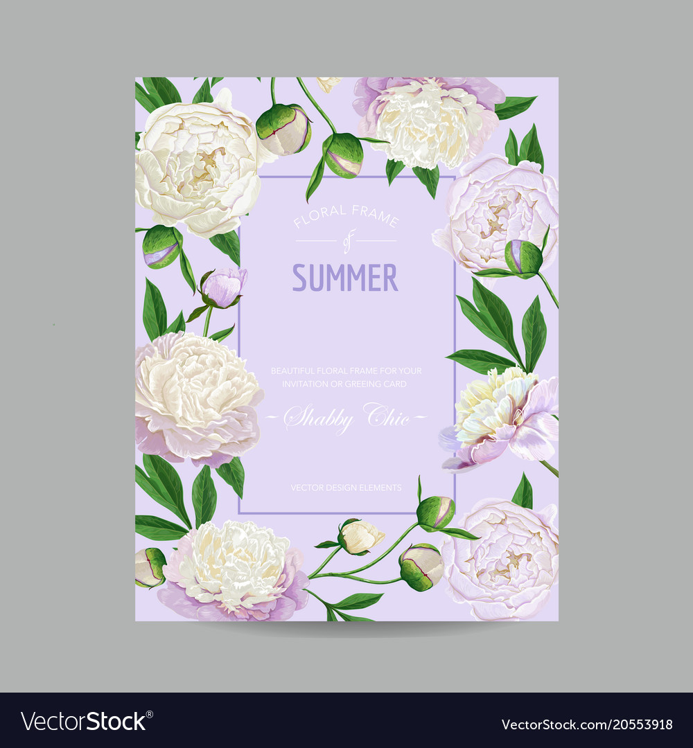 Hello summer floral design blooming white peonies