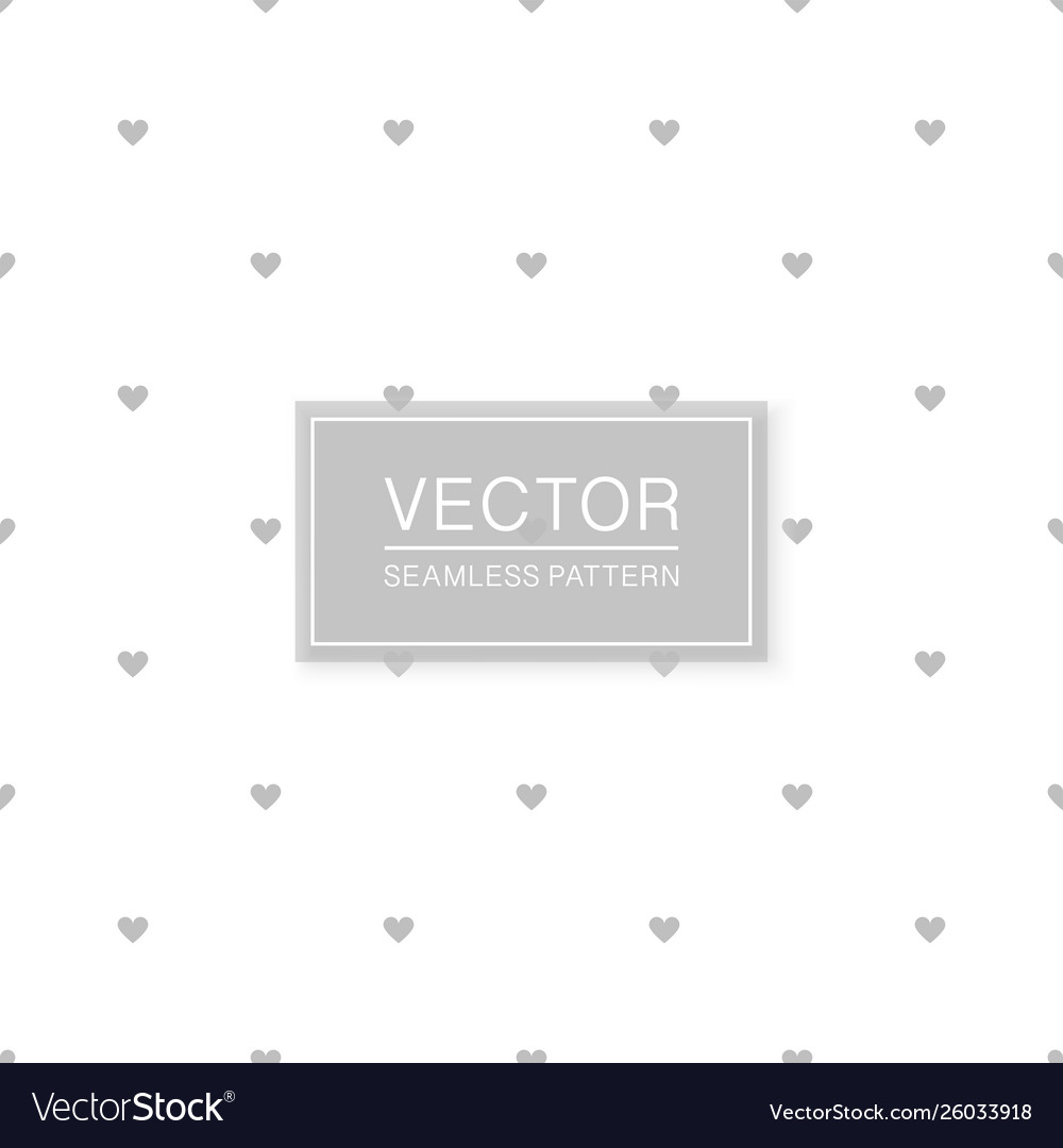 Stylish seamless hearts pattern - simple vector