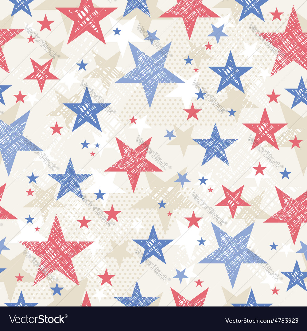 Background with Seamless pattern with stars