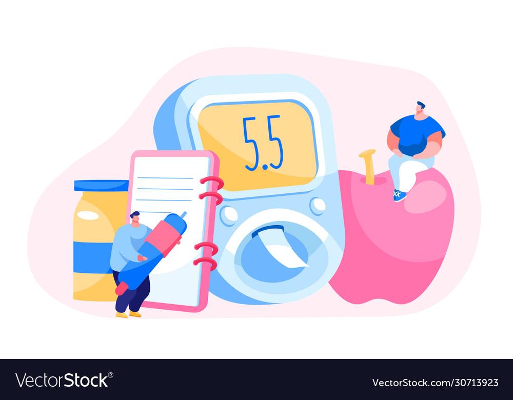 Diabetes blood sugar level test at digital glucose