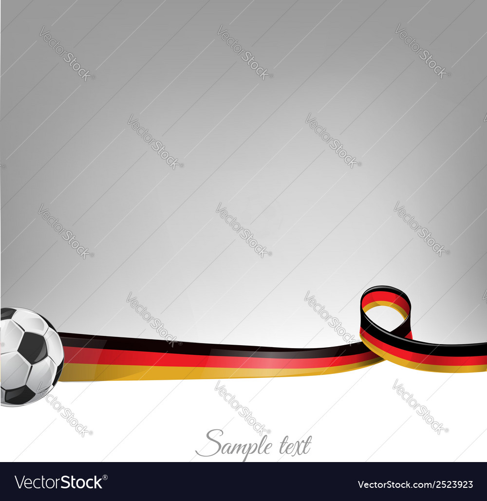 Germany background with soccer ball