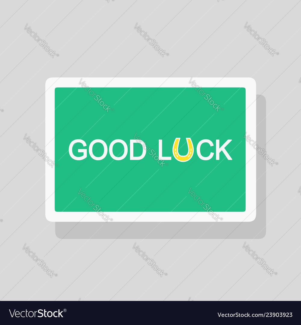 NEW Quality Good Luck Horseshoe Greetings Card
