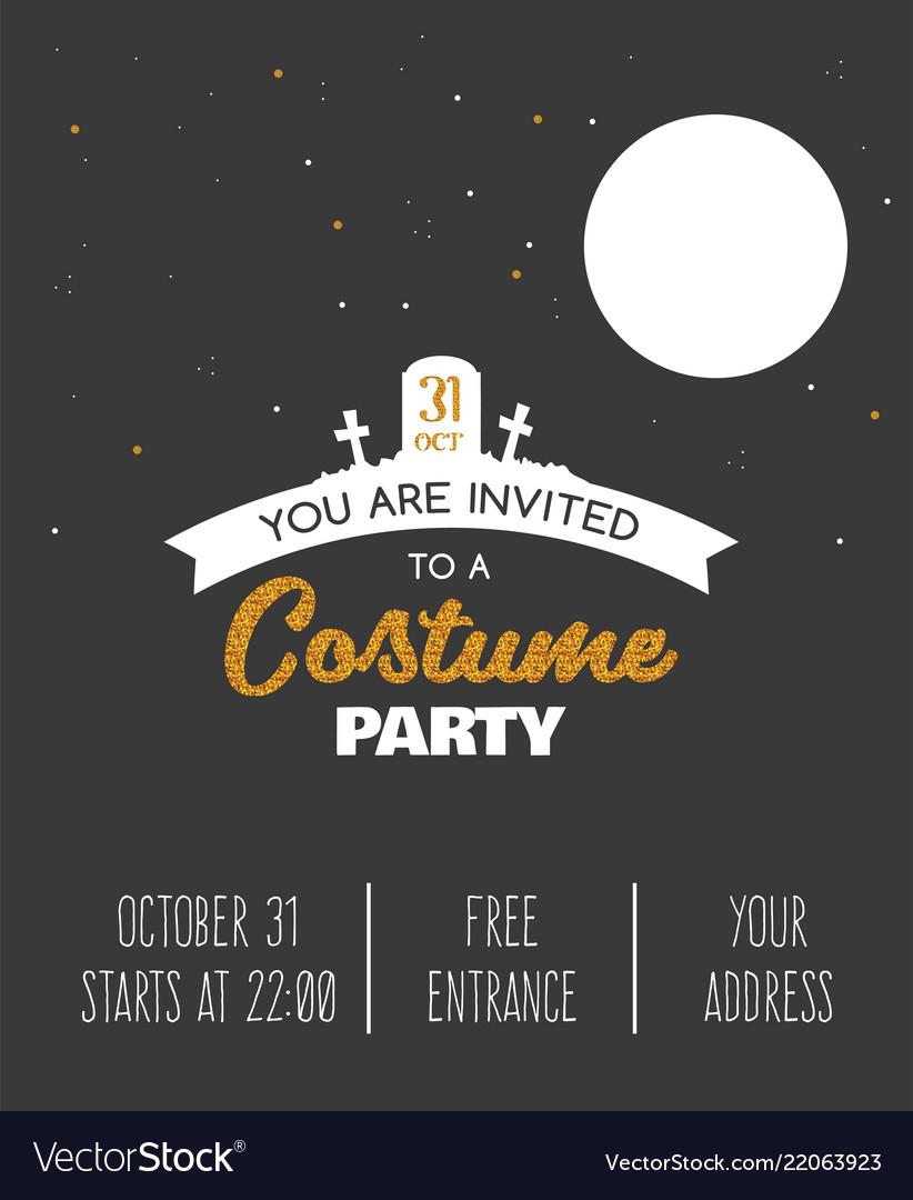Halloween costume party invitation halloween