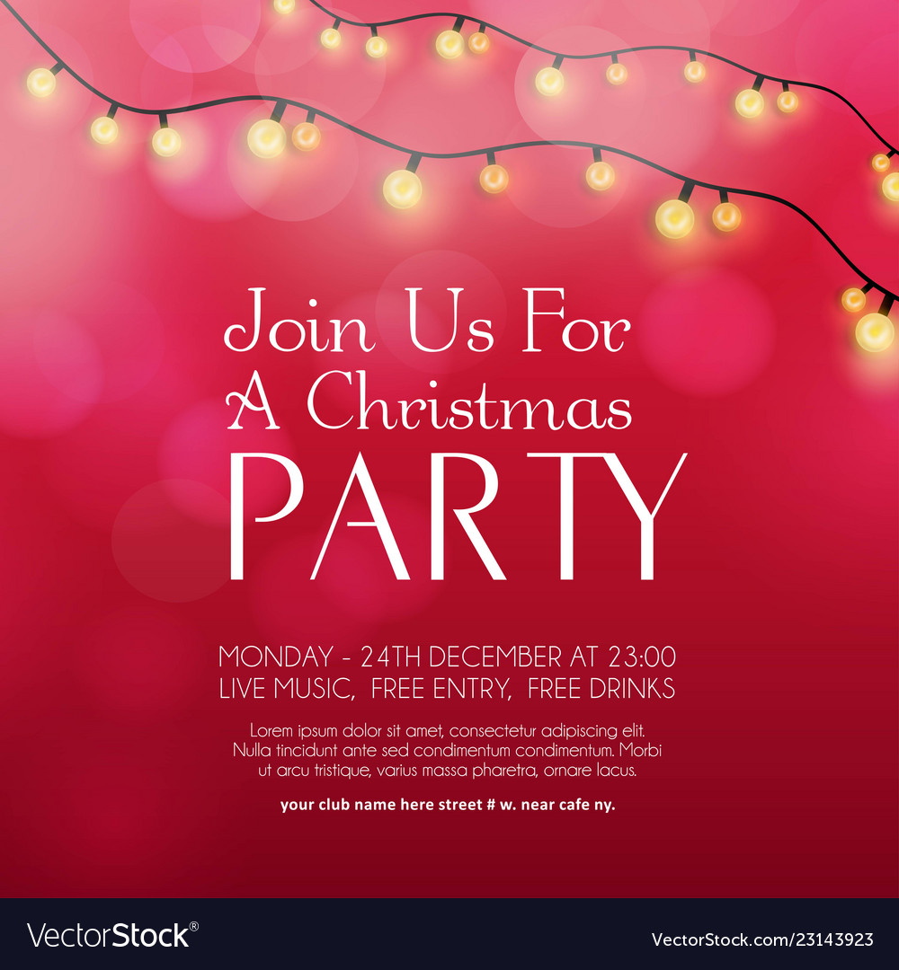 Christmas Party Invitation.Merry Christmas Party Invitation Background
