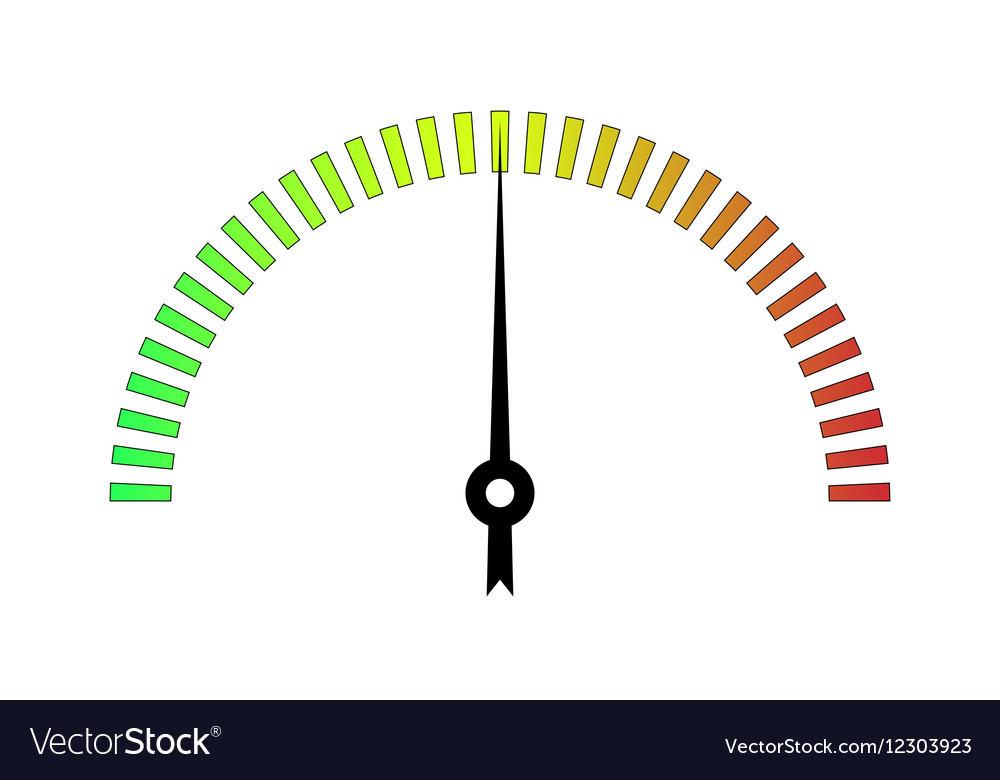 Template meter with color scale