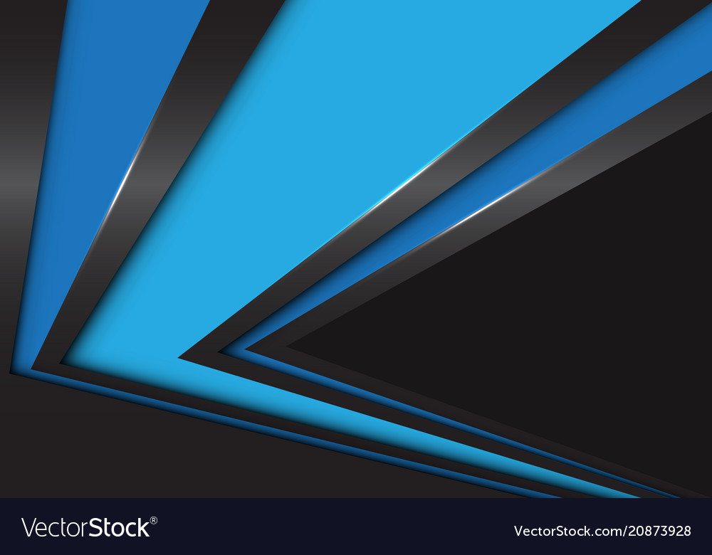 Abstract blue arrow speed direction on black