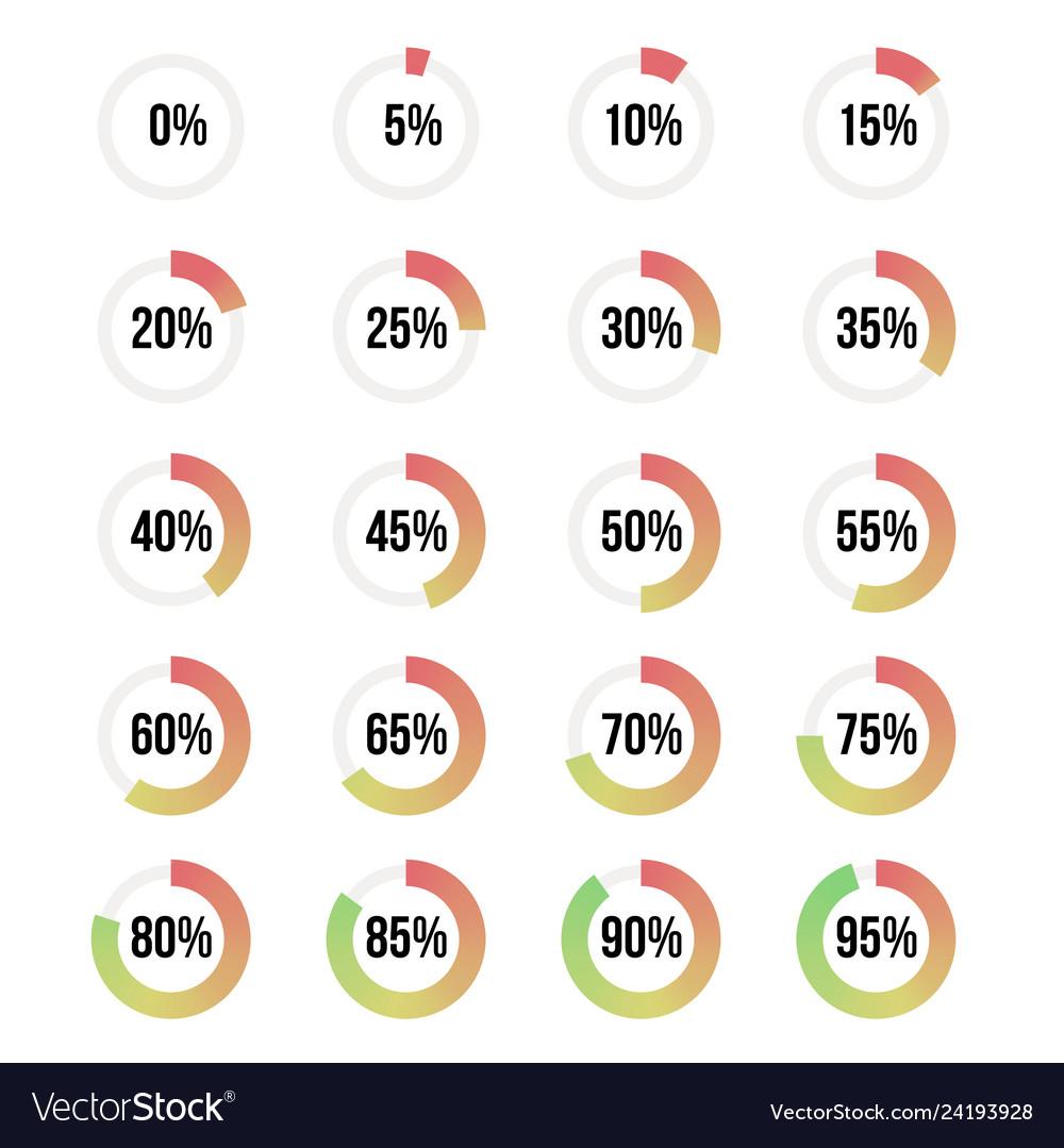 Color progress indicators set