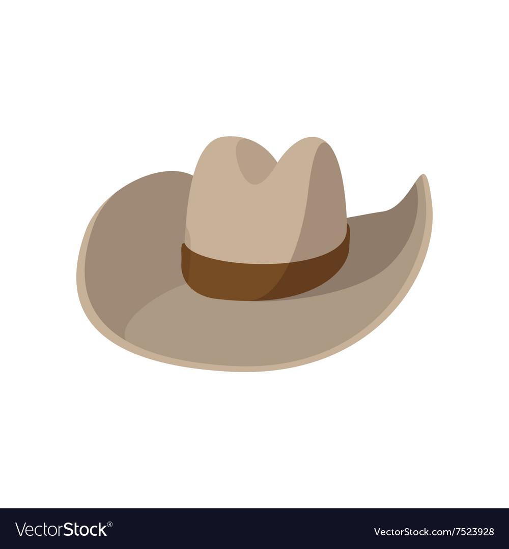 Cowboy hat cartoon icon vector image