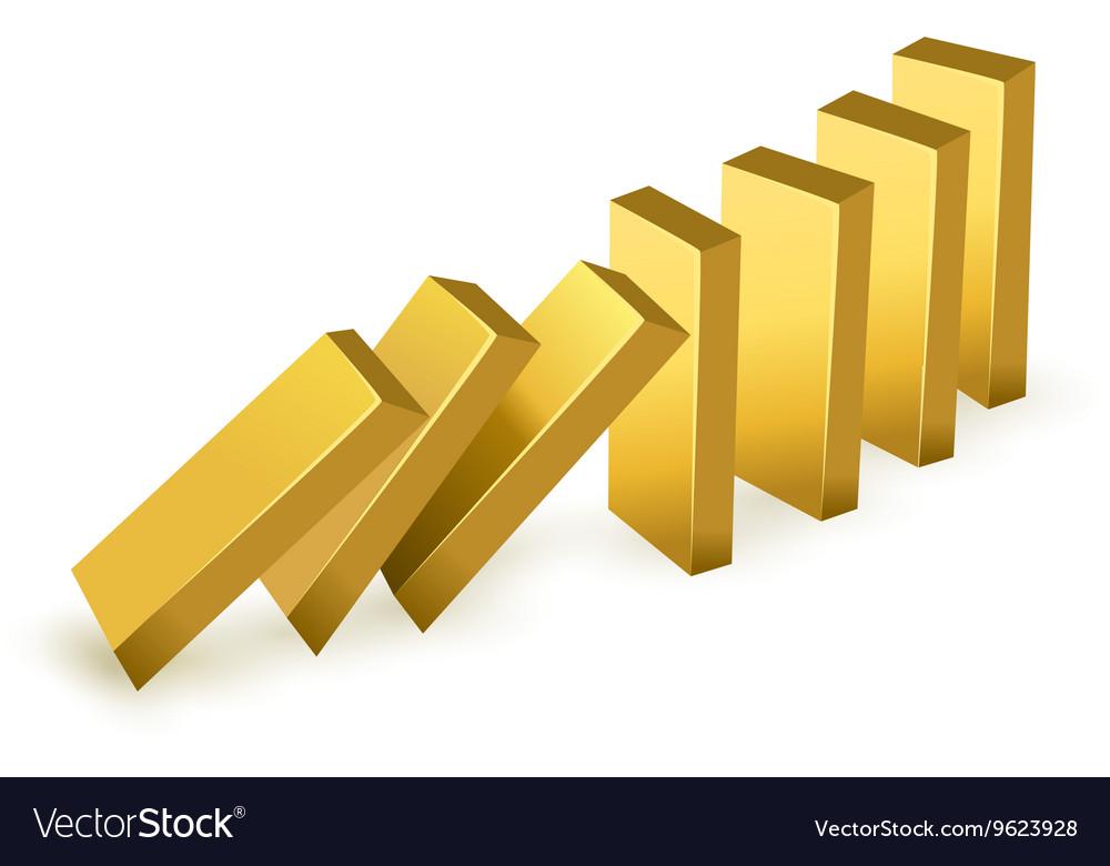 Falling gold bars vector image