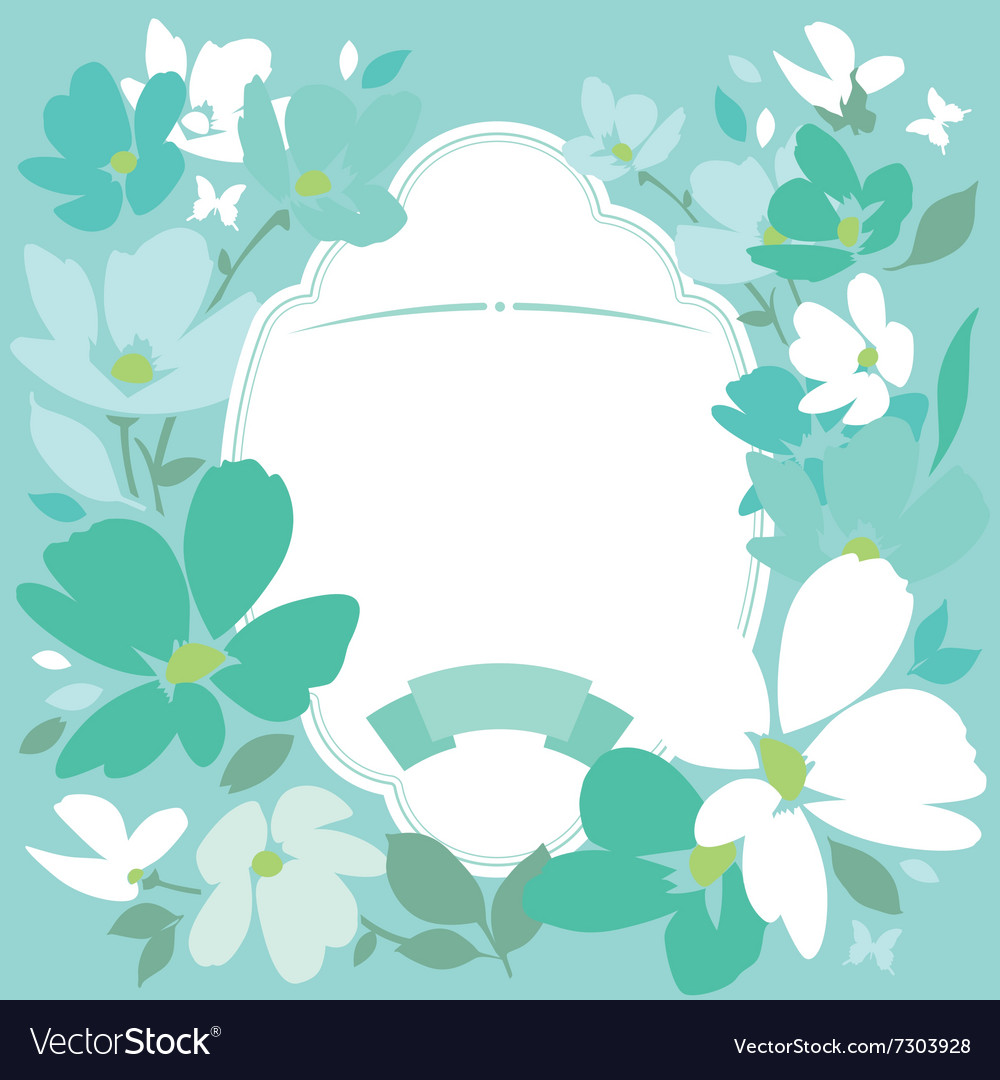 Floral Background In Pastel Colors Royalty Free Vector Image