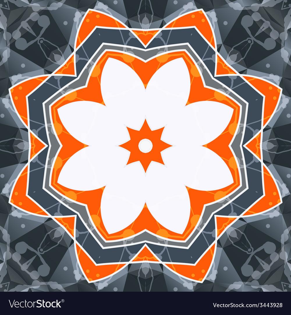 Mandala orange swadhisthana lotus flower symbol vector image izmirmasajfo