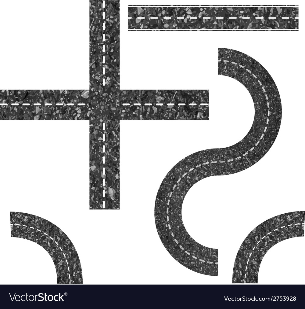 Modern Highway Map Toolkit Top View Position