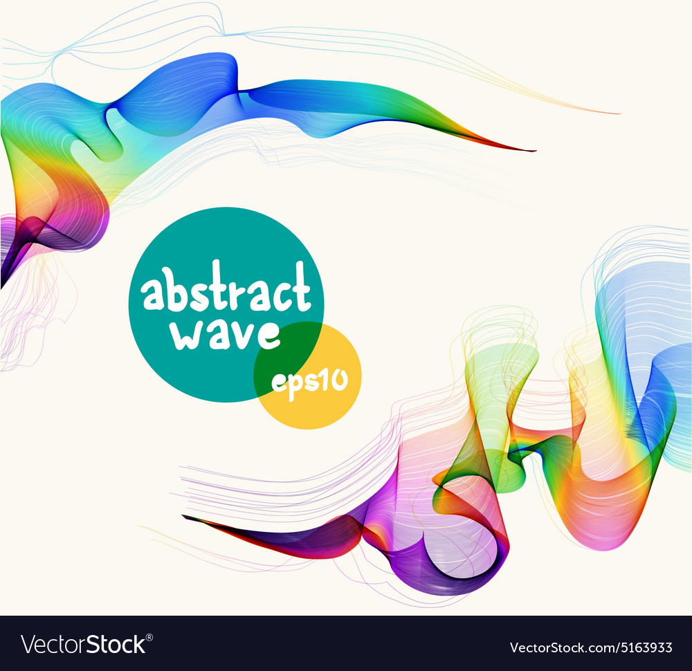 Abstract colorful background with wave