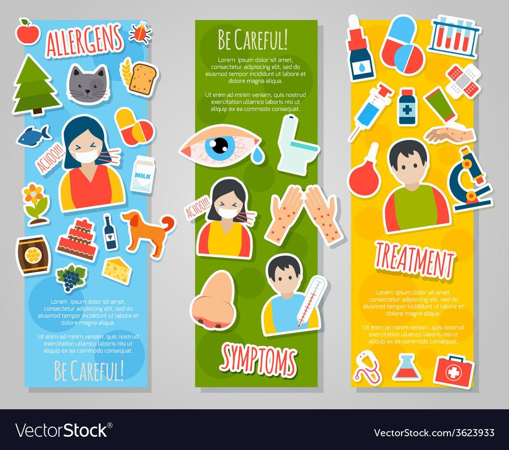 Allergies Banner Set vector image