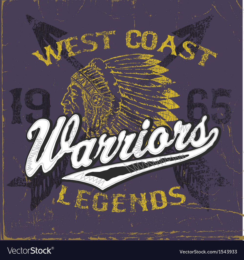 Athletic Style Warriors Apparel Design