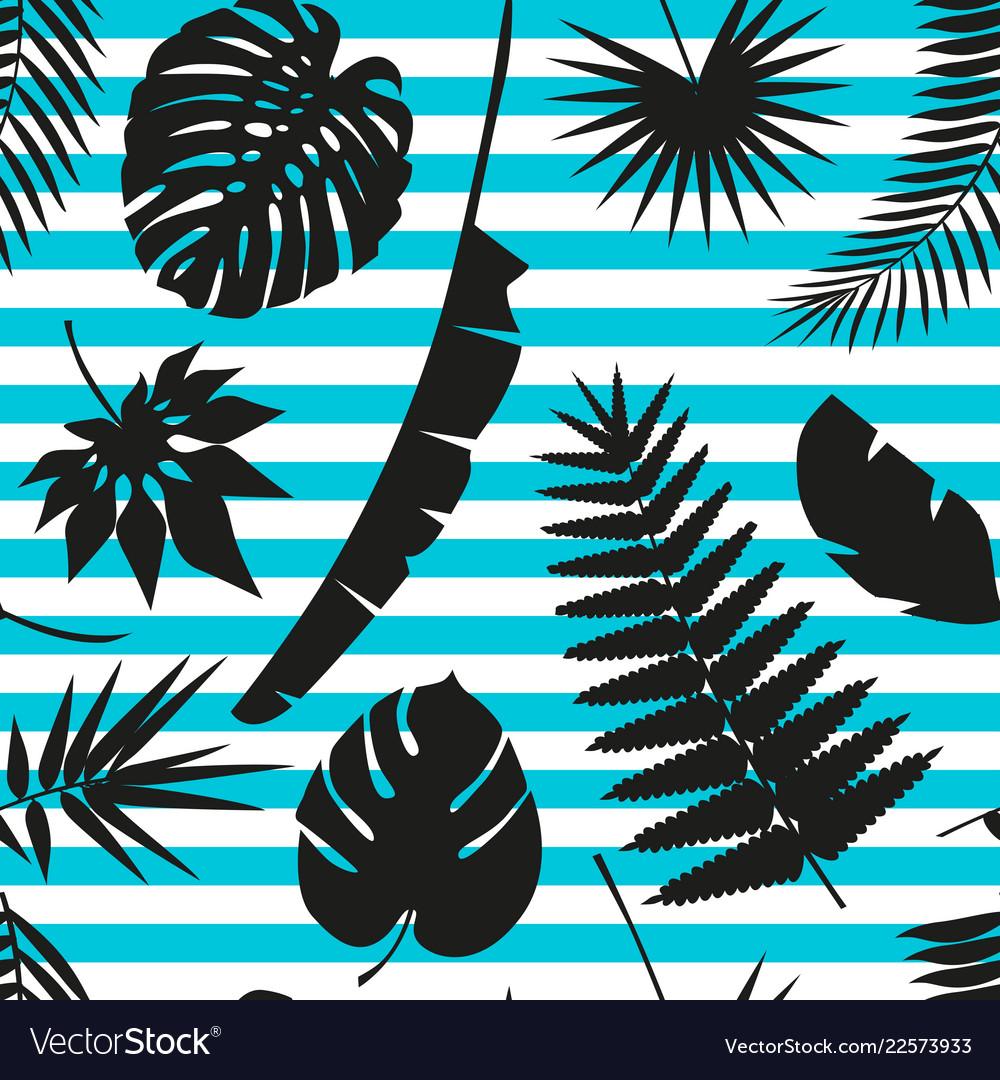 Beautiful seamless tropical jungle floral pattern
