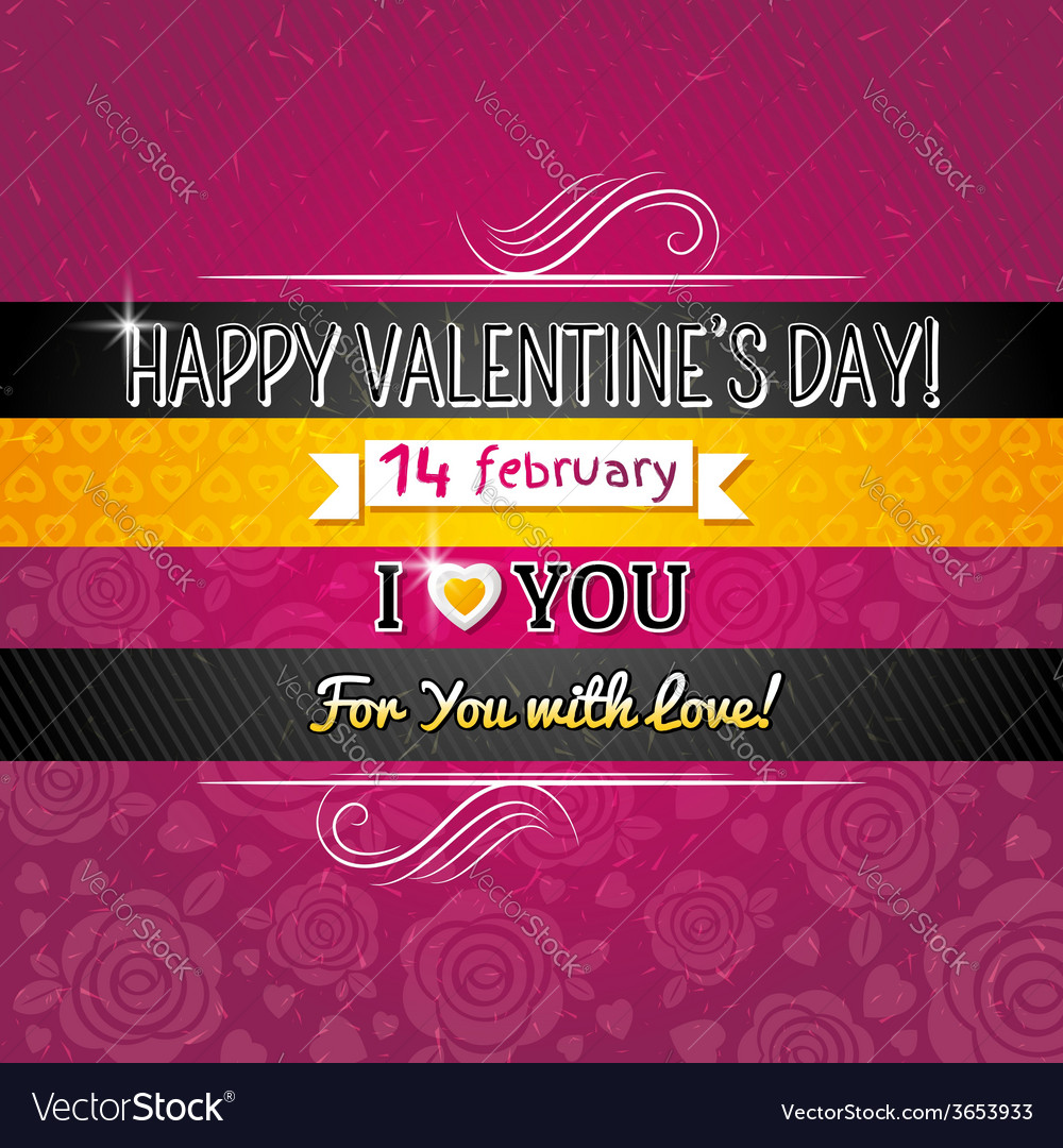 Color background with valentine heart